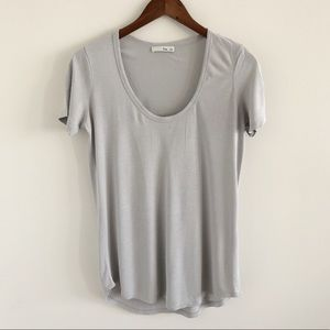 Aritzia Wilfred Free Scoop Neck Tee Size Small